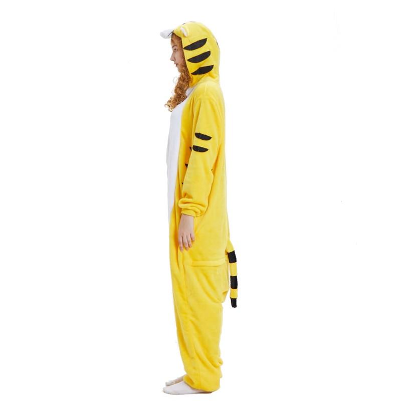 cbcb66093b21 yellow tiger onesie animal costumes adult onesies kigurumi pajamas