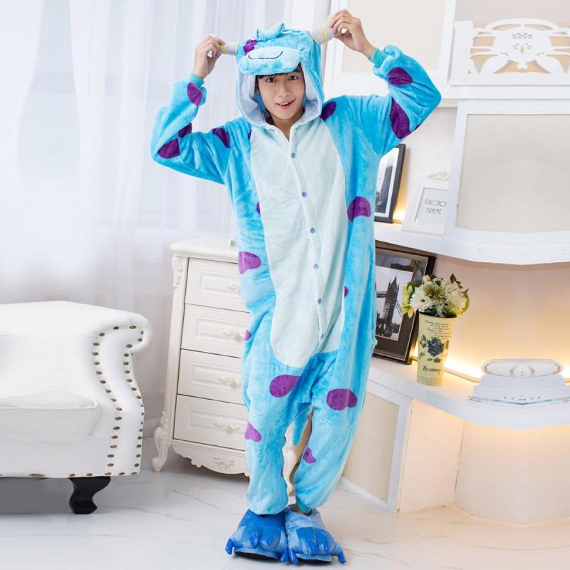 01b76ea81592 sulley onesie sully costume monsters university onesies kigurumi pajamas