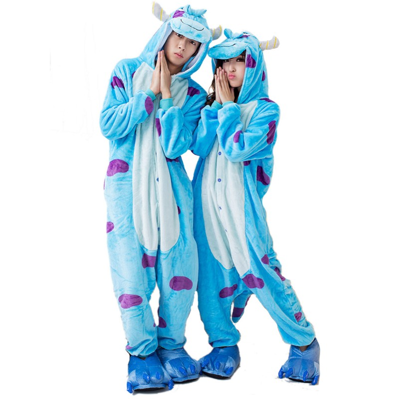 Sulley Onesie Sully Costume Monsters University Onesies Kigurumi Pajamas