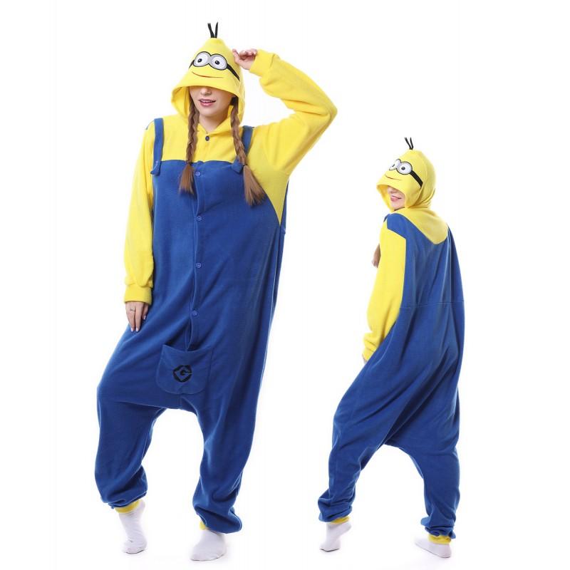 sc 1 st  Wellpajamas & Cute Minions Onesie Pajama Winter Warm Animal Costume For Women u0026 Men