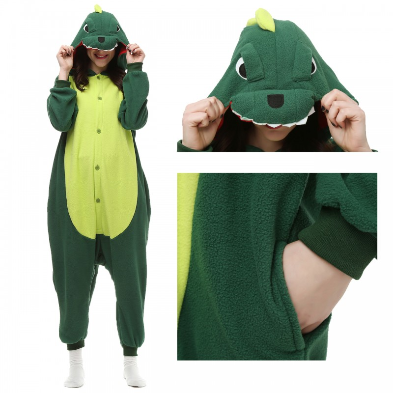 6a692ff9515a Dinosaur onesie for adult onesies pajamas