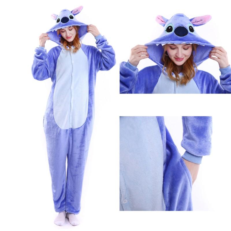 d363b4cff3d9 Lilo and Stitch Blue Unisex Adults Costumes Kigurumi Onesie