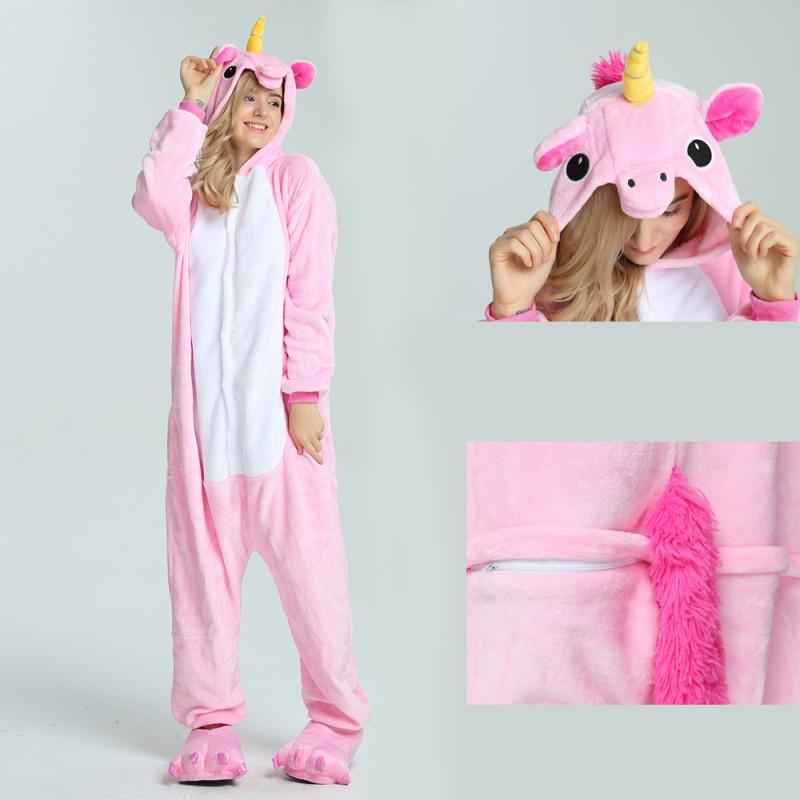 kigurumi pink Pegasus onesies animal pajamas for adults 441038410