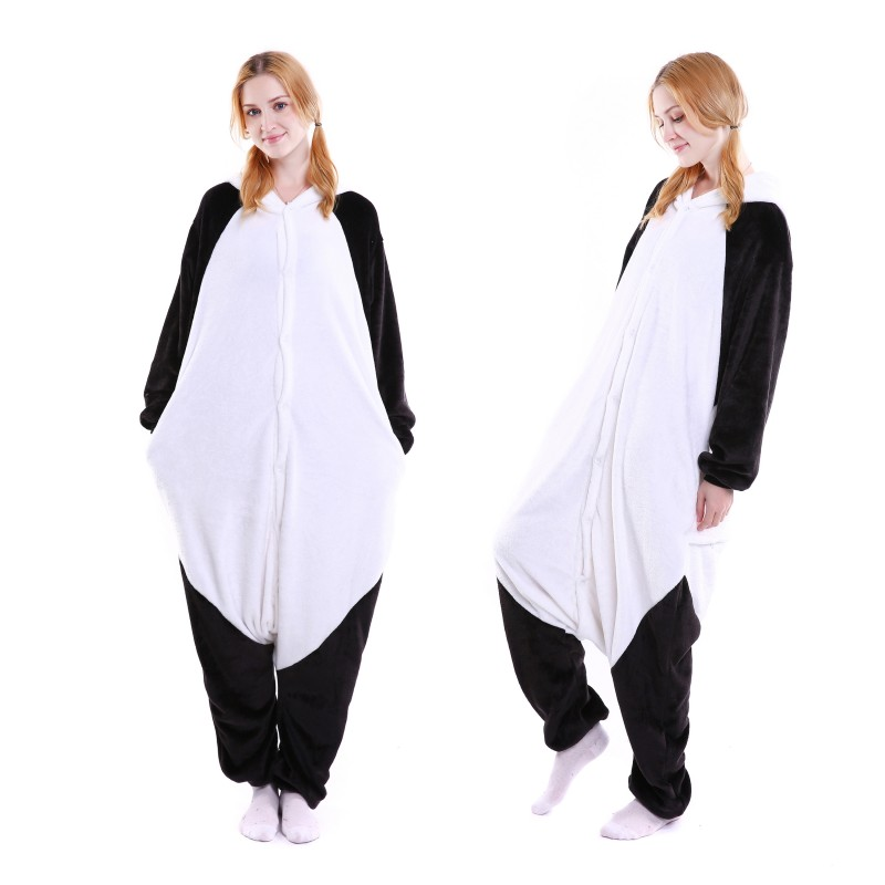 f5defdb320 kigurumi black white Kungfu Panda onesies animal pajamas for adults