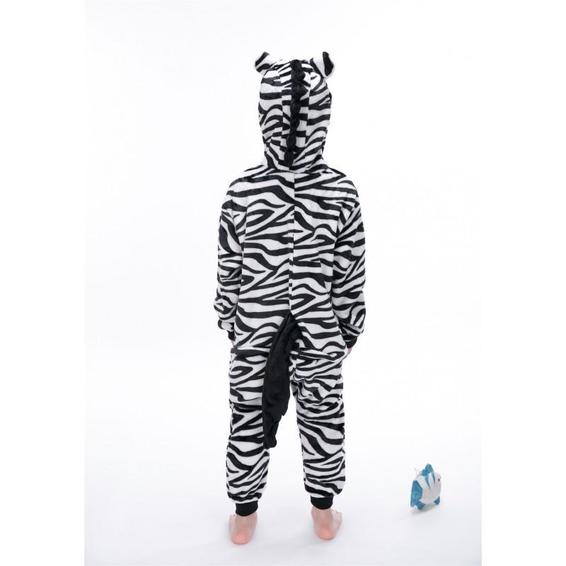 72620bf633e0 animal kigurumi black white Zebra onesie pajamas for kids