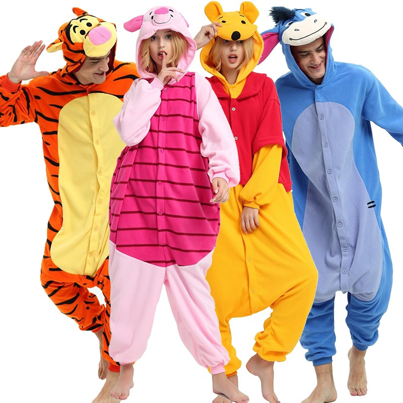 fedc39294 Winnie the pooh bear onesie disney costumes for adult and kids ...