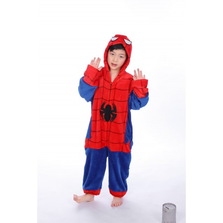 animal kigurumi red blue Spider Man onesie pajamas for kids