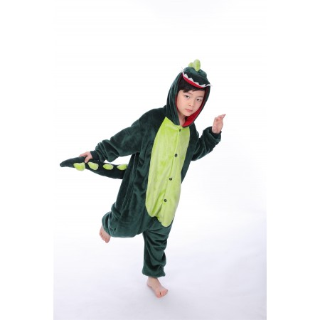 animal kigurumi green Dinosaur onesie pajamas for kids