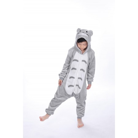 animal kigurumi grey Totoro onesie pajamas for kids