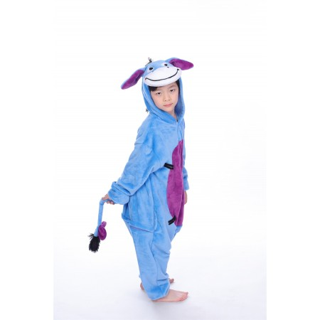 animal kigurumi blue Eeyore onesie pajamas for kids