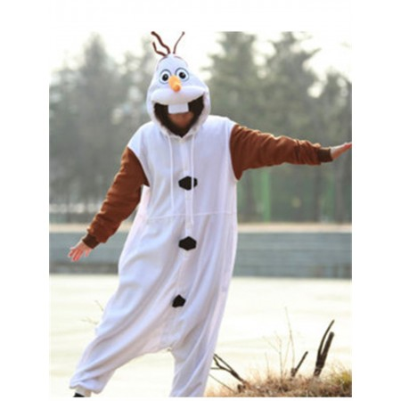 kigurumi white brown Frozen Olaf Snowman onesies animal pajamas for adults