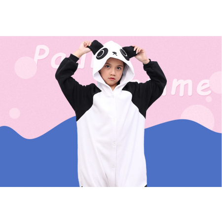 animal kigurumi black white Kungfu Panda onesie pajamas for kids