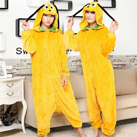 kigurumi yellow Jake Dog onesies animal pajamas for adults