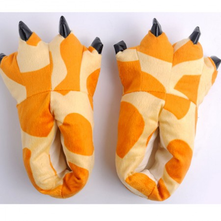 Yellow giraffe Animal Onesies Kigurumi slippers shoes