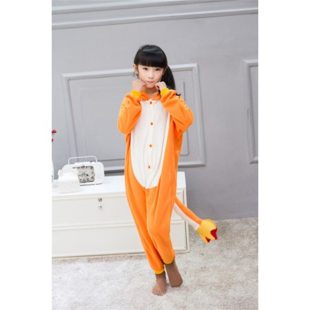 animal kigurumi yellow Charmander onesie pajamas for kids