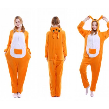 kigurumi yellow Kangaroo onesies animal pajamas for adults