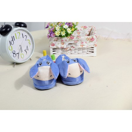 Blue Animal warm shoes plush slippers