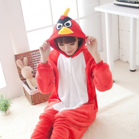 Red Angry Birds Pajamas Animal Onesies Costume Kigurumi