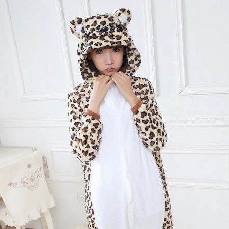 Leopard bear Pajamas Animal Onesies Costume Kigurumi