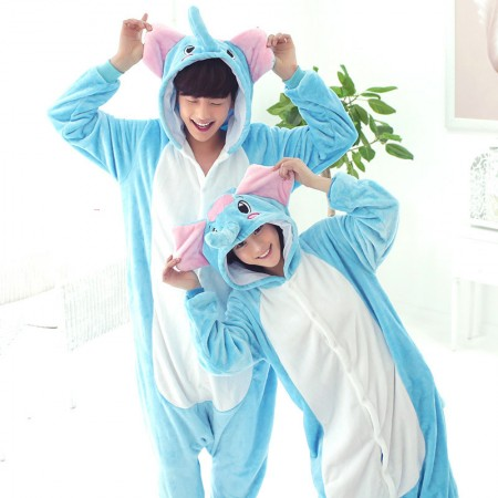 Elephant Pajamas Animal Onesies Costume Kigurumi