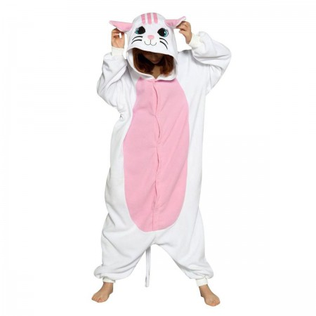 White Cat Kigurumi Onesie