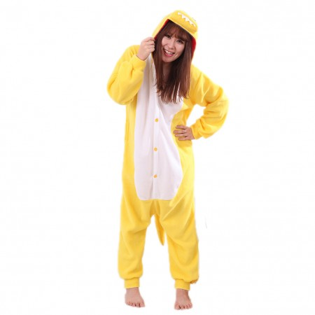 Yellow Dinosaur Onesie