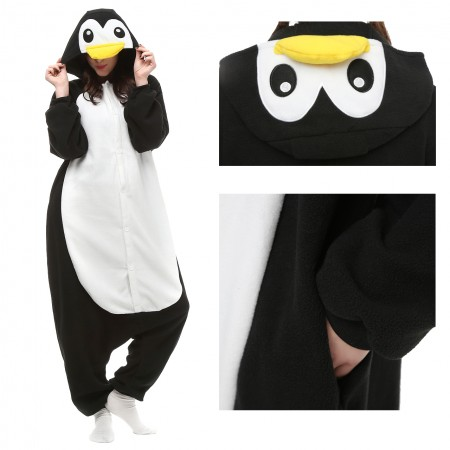 Black Penguin Onesie