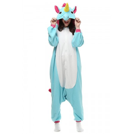Blue Unicorn Adult Onesies Kigurumi Pajamas Cute Animal Costume Cospaly Partywear Outfit Homewear