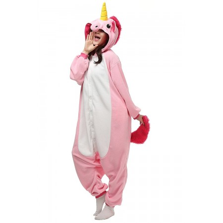 Pink Unicorn Adult Onesies Kigurumi Pajamas Cute Animal Costume Cospaly Partywear Outfit Homewear