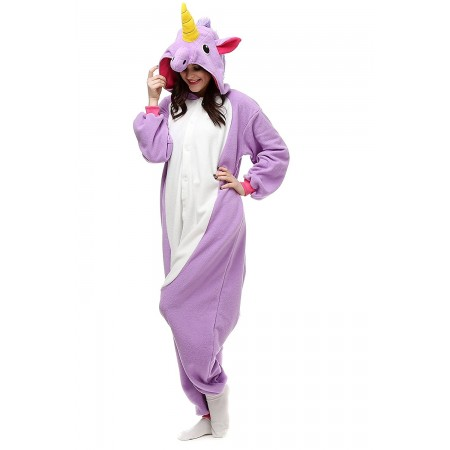 Purple Unicorn Adult Onesies Kigurumi Pajamas Cute Animal Costume Cospaly Partywear Outfit Homewear