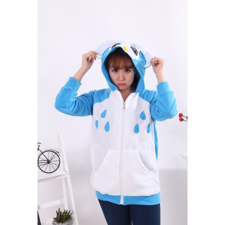 Owl Animal Kigurumi Fleece Hoodie Coat Jacket