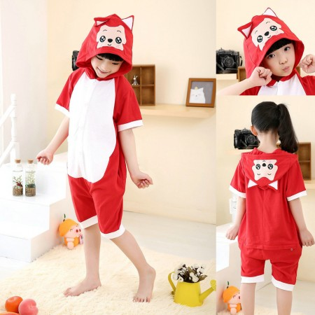 red fox kigurumu for kids