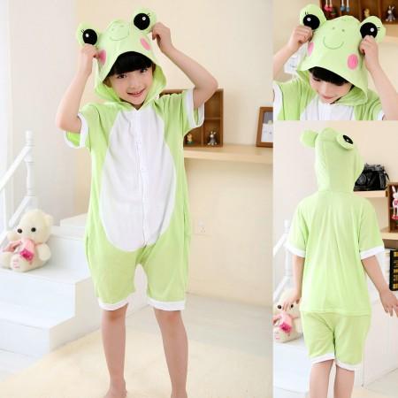 Frog kids Animal Cartoon Onesies Short Sleeves Pajama Costume
