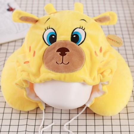 Yellow Deer Neck Pillow