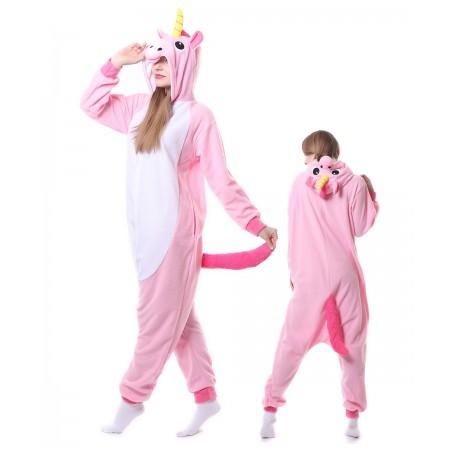 Pink Unicorn Onesie Pajama Animal Costumes For Women & Men