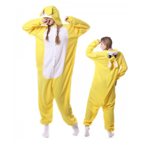 Yellow Rabbit Kigurumi Onesies Pajama For Adult
