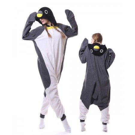Gray Penguin Onesie Pajama Animal Costumes For Women & Men