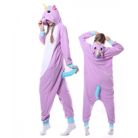 Purple Unicorn Onesie Pajama Animal Costumes For Women & Men