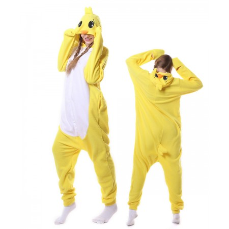 Yellow Duck Onesie Pajama Animal Costumes For Women & Men