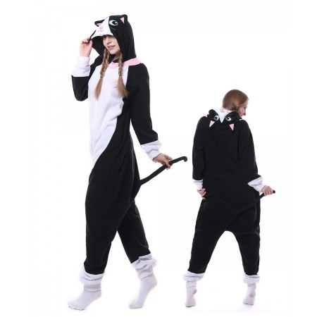 Black Cat Onesie Pajama Animal Costumes For Women & Men
