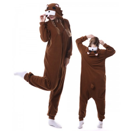 Brown Bear Onesie Pajama Animal Costumes For Women & Men