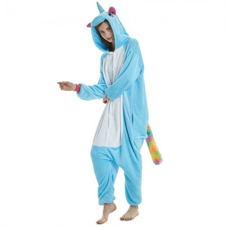 Light Blue Rainbow Tail Unicorn Onesie Pyjamas 2018