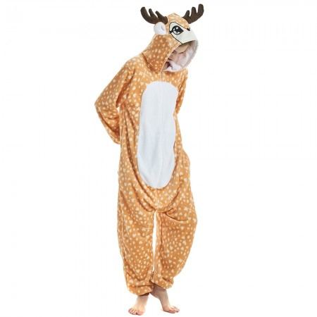 Yellow Deer Styling Animal Onesies Pyjamas