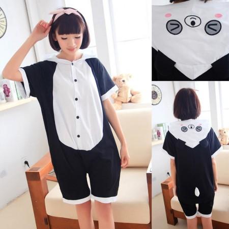 Blink Panda Pajamas Animal Onesie Hoodie Kigurumi Short Sleeve
