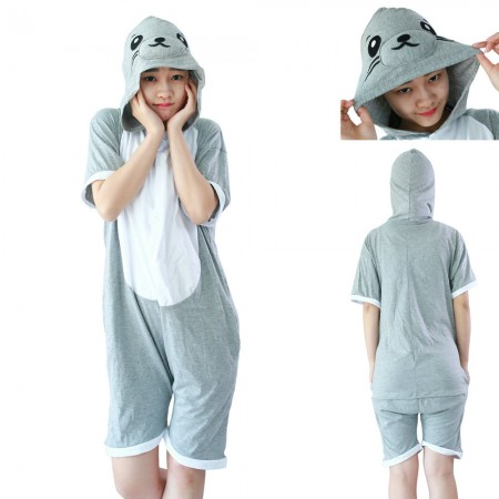 Seal Kigurumi animal onesies Pajamas Short Sleeve costume