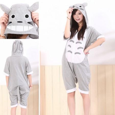 Totoro Pajamas Animal Short Sleeve Onesie Hoodie Kigurumi