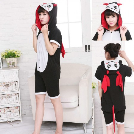 Cartoon Little Devil Kigurumi Onesies Short Sleeves Pajama Costume