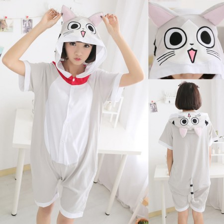 Chi The Cat Pajamas Animal Onesie Hoodie Kigurumi Short Sleeve