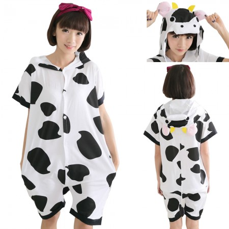 black and white cows onesie pajamas for adults