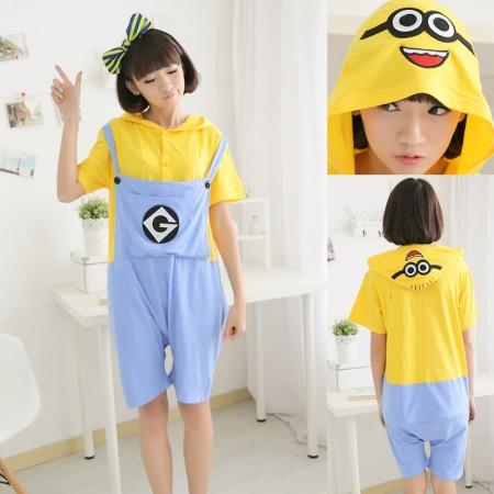 Despicable Me 2 Minions Pajamas Animal Onesie Hoodie Short Kigurumi